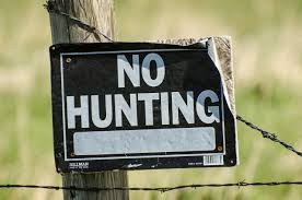 private hunting sign